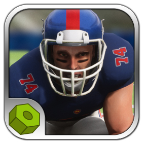 Detailed low-poly football player model