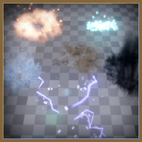 This is a collection of particles for footsteps in a variety of environments. Good for scifi, fantasy and modern game styles.