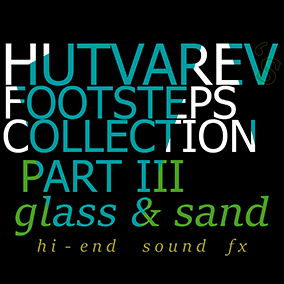 22 Hi-End Sfx for footsteps on glass and sand materials
