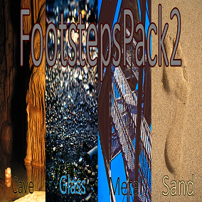 Footsteps Pack 2 consists of 280 single sounds and 64 seamless loops.