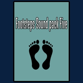 Footsteps Sound Pack Five contains 380 sounds, 190 mono and 190 stereo.