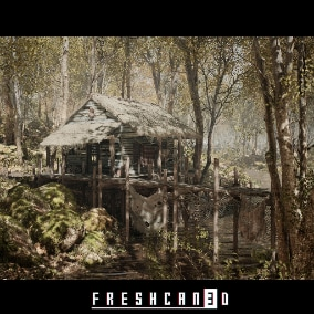 'Forest Cabin Bundle' offers high quality photoscanned nature assets and structures which allows you to create whole forest environment with a single pack.