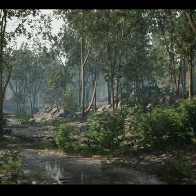 Highly detailed Nature environment pack including procedural generation, Various assets and wind animations using Pivot Painter tool, Auto landscape material , tweakable plant materials. Includes various assets (usable for various concepts.)
