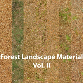 Game Ready Multi Layer-Landscape Material for deciduous Forest