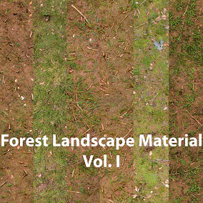 Game Ready Multi Layer-Landscape Material for coniferous Forest