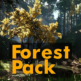 Game-ready pack. Pines, Firs, Birches / 12 unique grass species / 2 bush species / 10 Rocks / Vertex painted wind, LODs, Collision, Master Materials