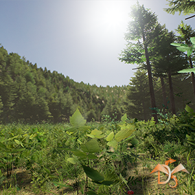 "This content is part of the content ""Forest Trees Plants and Grass for Games"" and includes all plants, environmental elements, birds, landscape material, spline elements and customization system."