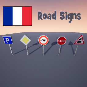 France Road Signs Pack contains 212 Signs.