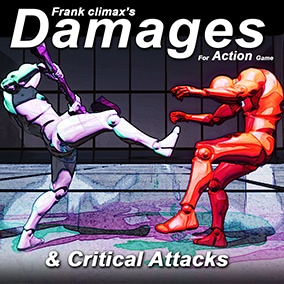 Damage motion collection for Action game