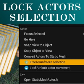 Allows you to lock the selection of actors and their movement