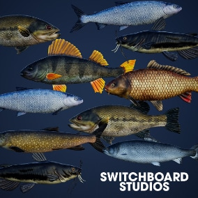 A pack of 7 Rigged & Animated Fish for all your freshwater fish needs.