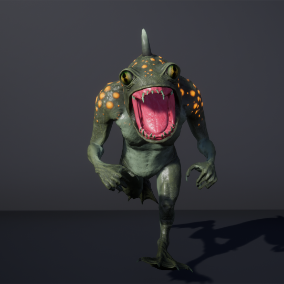 Frog mutant ,low poly model