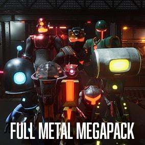 9 Sci-fi Robotic Character 174 Animations Customizable Materials