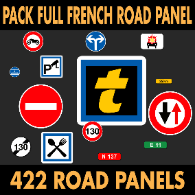 Full pack of French traffic signs.