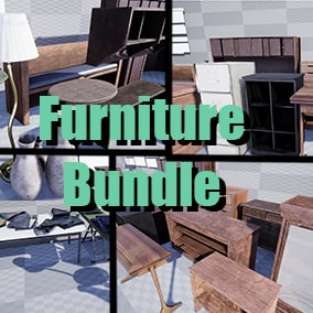 Furniture bundle contains assets that can be used in any house like environments or even offices. If you need to add quick furniture to an apartment, house, or office, this would be for you.