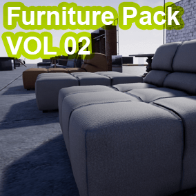 "The ""Furniture Pack Vol 02 (Only Furniture)"" - Has 862 high quality assets for your game 131 Mesh,187_M,544_T"