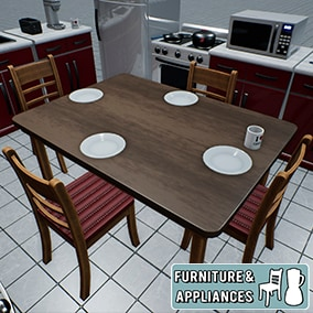 22 Kitchen Furniture and Appliances Props.