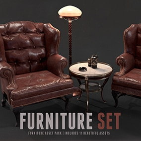 Collection of furniture props.