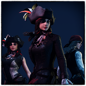 Pirates character with facial rigged