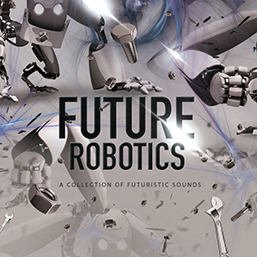 'Future Robotics' by Cinematic Sound Design features a collection of futuristic sound effects designed for Cinematic productions, games, apps, and more.
