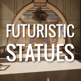 Futuristic Statues are perfect for  your architectural visualization or game projects.