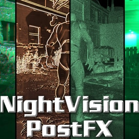 12 night vision materials of post effect.