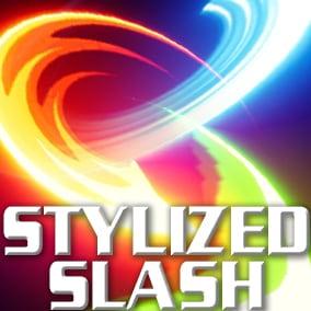 80 stylized slash effect