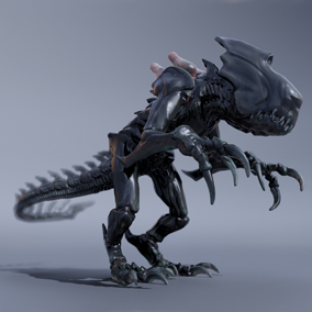 ***Included Inside Sci Fi Creatures Vol 1*** This creature will be a perfect fit for any Sci Fi project in need of a scary alien enemy to shoot at.