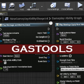 GASTools is A Plugin Exposing Some Of The Utilities in the GameplayAbilities Plugin To Blueprint. This Tools also Provided Custom Ability Tasks to Make Your Life Easier!