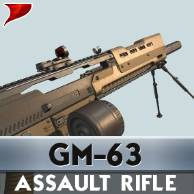GM-63 Assault Rifle all kinds of unique VFX/SFX and Animations.