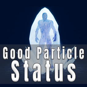 Good Particle : Status was developed to provide more aesthetically pleasing visual communication to the player about a characters status.