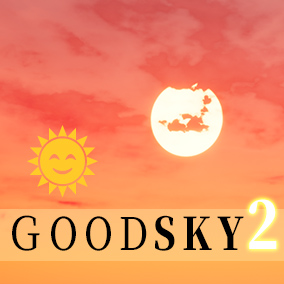 Quick and easy sky effects for artists. Add customizable sun, moon, star, and even storm effects.