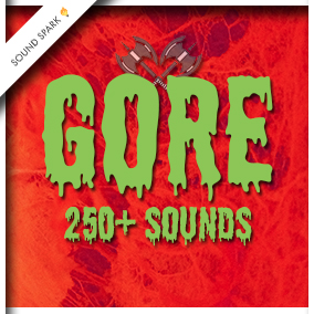 Blood and guts sound effects with melee weapon attacks, zombie groans and horror ambiances mixed in.