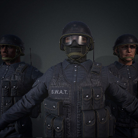 Classic SWAT character with advanced customization