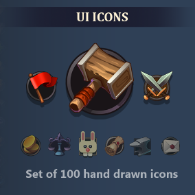 This set includes 100 unique icons.