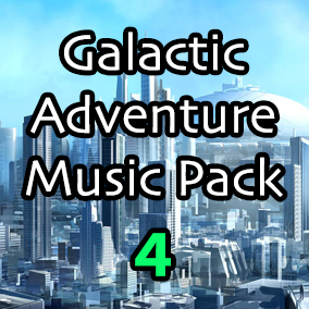 Galactic Adventure Music Pack 4 is the final volume in a series of seamless looping music and stems perfect to drop into any Sci-Fi based video game.