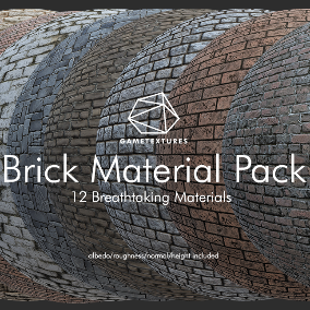 A pack of 12 Brick Materials built specifically for Unreal by the pros at GameTextures.