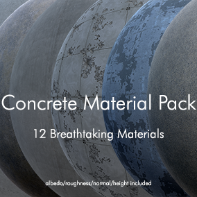 A pack of 12 Concrete Materials built specifically for Unreal by the pros at GameTextures.