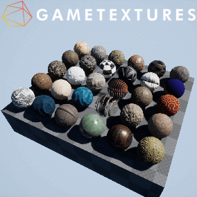 30 Free Materials from GameTextures.com constructed with our properietary SHADE UE4 Master Materials.