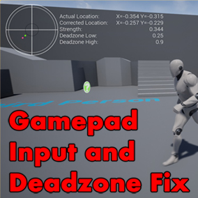 Fixes UE4's uneven reading of thumbstick inputs. Smooths out all inputs. Allows user to have a circular deadzone on the thumbstick. And allows user to have specific deadzone min and max sizes. Also comes with a visualizer.