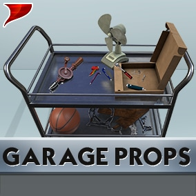 Garage Props with all kinds of unique Models, Materials and 4k Textures.