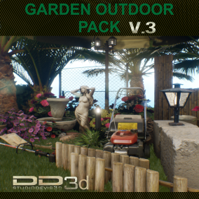 Mega pack of varied objects of extreme quality to fill or assemble garden, and outdoor.  Version 2.0