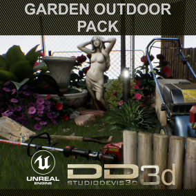 Mega pack of varied objects of extreme quality to fill or assemble gardens and outdoor scenes. Launch price.