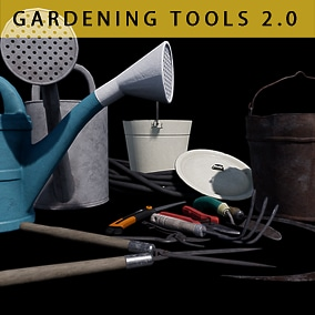 A small set of gardening tools