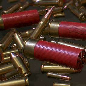 A pack of modern modern firearm cartridges. Including 10 different types of unused and used cartridges.