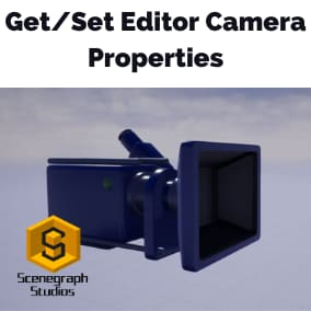 Get and Set Editor Camera Properties such as the location, rotation, or facing direction. Spawn actors at the location or infront of the editor camera to make world building faster.