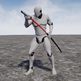 This is a set of 300+ animations for GhostSamurai Katana.