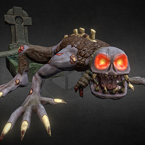 "Low poly model ""Ghoul Zombie"" was made for stylized games. Due to the optimization of textures and animations and a small amount of triangles, this model can be used in all genres of games (RPG, strategy, action, etc...)"