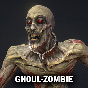 Ghoul model, around 12000 tris, 5 animations