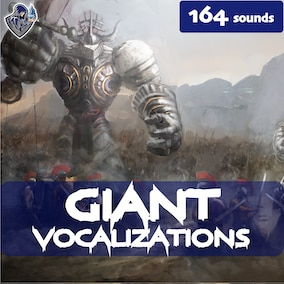 A giant vocalization sound library with 164 high-quality big-monster sound effects, ready for use in the video game and trailer.